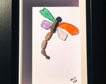Dragonfly - Pebble Art