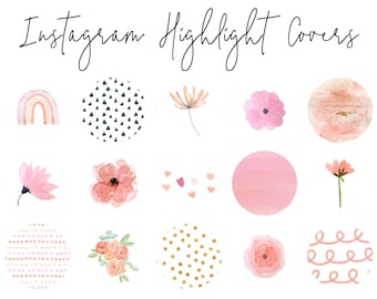 Instagram Story Highlight Icons Pink Etsy This free instagram highlight pack features 145 total elements that you can use for any social media application. instagram story highlight icons pink etsy