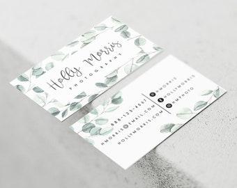 Custom business cards etsy premade business card design premade business card custom business card watercolor business card photography business card eucalyptus colourmoves