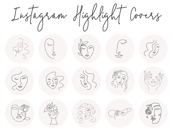Instagram Story Highlight Icons Ios 14 App Icons 16 Etsy How to upload highlight covers to instagram. instagram story highlight icons ios 14 app icons 16 abstract boho line art face covers instagram highlight covers iphone widgets icons
