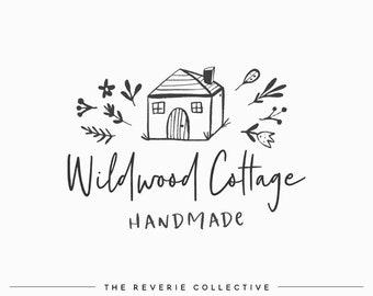 Cottage Logo, House Logo, Rustic Logo, Farmhouse Logo, Bed and Breakfast Logo, Interior Design Logo, Premade Logo Design