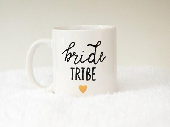 Bride Tribe Hand Painted 11oz Coffee Mug, Free Shipping