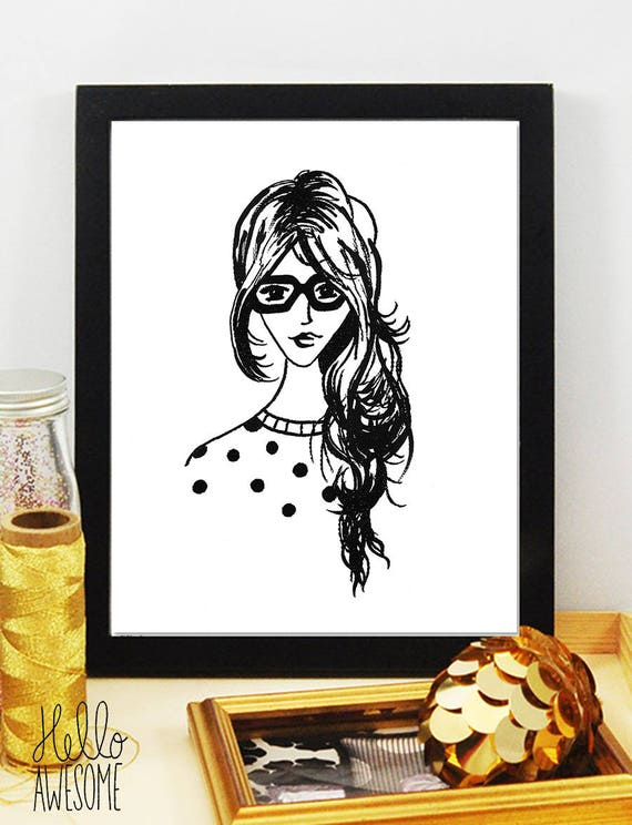 Penelope Modest Fashion Illustration Print