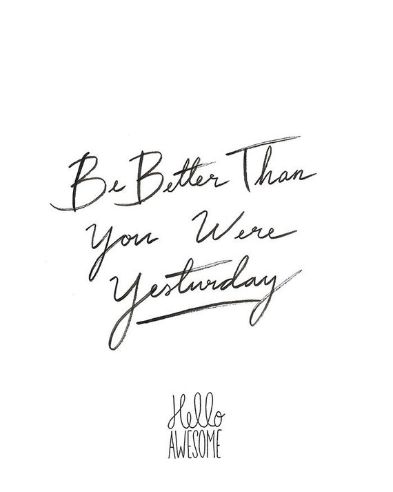 Be Better Hand Lettering Print