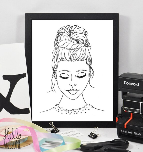 Lady in Lace Modest Fashion Illustration Print
