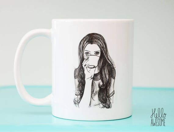 Coffee Lover Fashion Illustration Coffee Mug