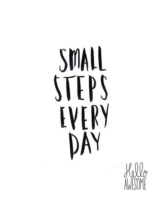 Small Steps Every Day Hand Lettering Print
