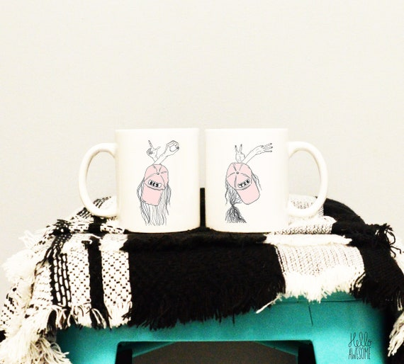 Besties Custom Name Mug Set