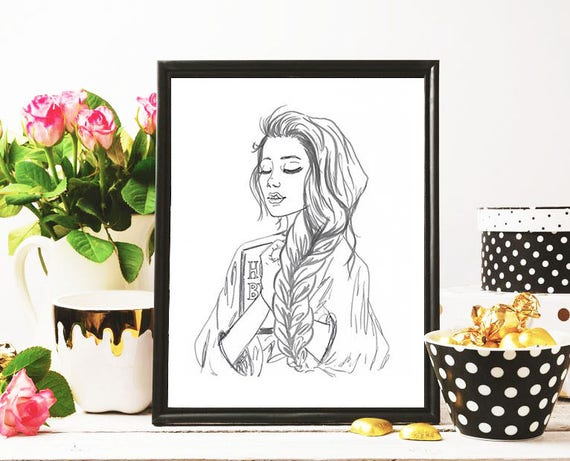 Adoration Modest Fashion Illustration Print