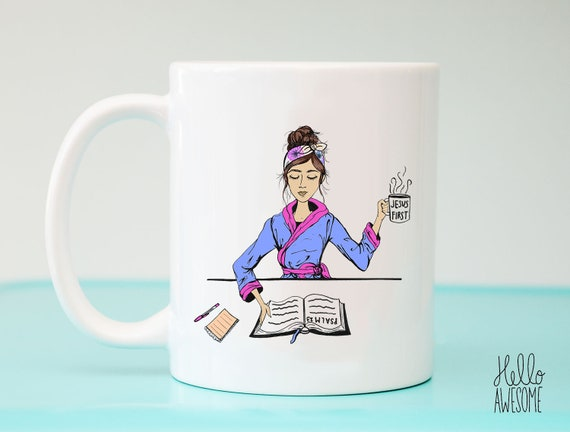 Jesus First Fashion Illustration Coffee Mug