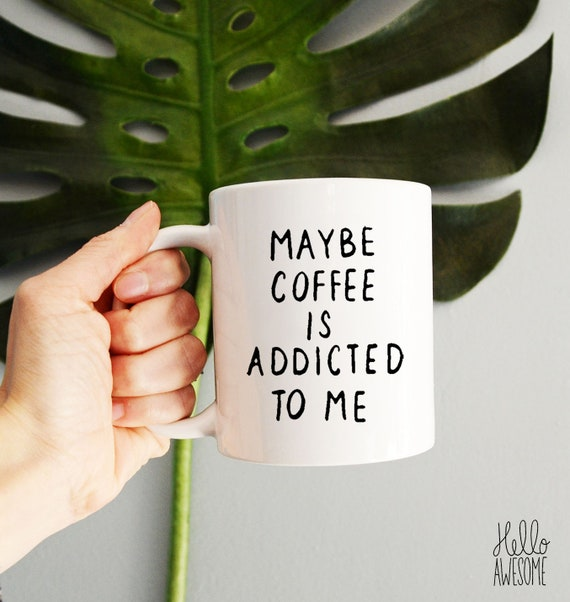 Coffee Addict Hand Lettering Coffee Mug