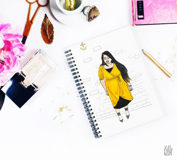 Sunshine Girl Modest Fashion Illustration Print