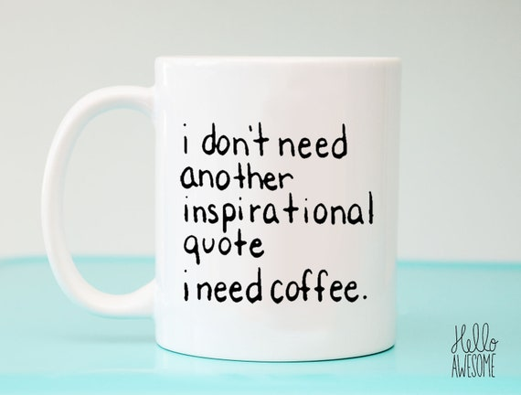 No Quote Hand Lettering Coffee Mug