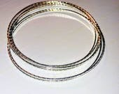 Silver plated bangle necklace Made in cananda gift for her