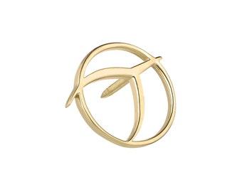IPU lapel pin, 14kt Gold