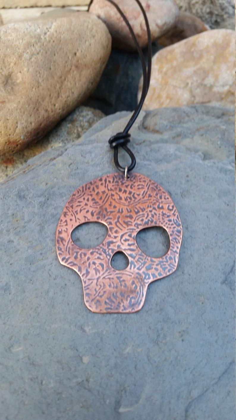 0e1246dd1 Sugar skull pendant copper pendant skull pendant halloween | Etsy