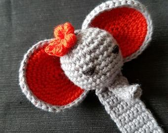 Crochet Elephant Bookmark for Kids, Childeren bookmark,  Funny bookmark