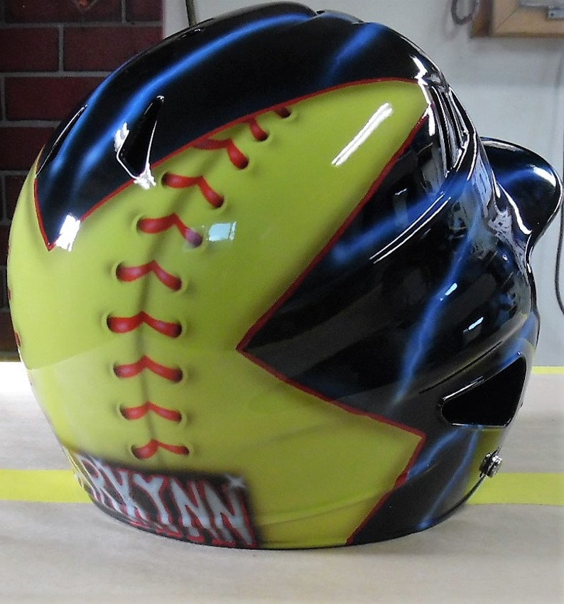 Protective Gear Batting Helmets & Face Guards Airbrushed Batting Helmets