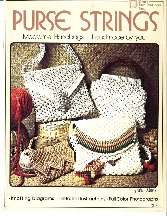 Purse Strings Vintage Macrame Bag Patterns 16 Patterns Pdf Etsy