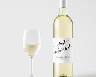 Wine bottle label template, Wine Label Printable, Instant download wine label , DIY wine label, Wine label printable, Editable PDF