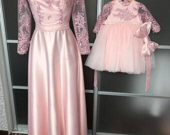 4b646da8da Pink maxi Mommy and Me Matching Dresses