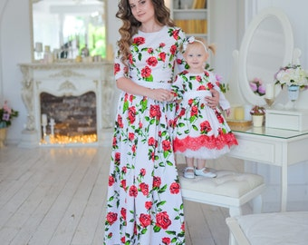 7598cae4bf0 Mommy and Me dresses Floral Maxi Dresses Outfits