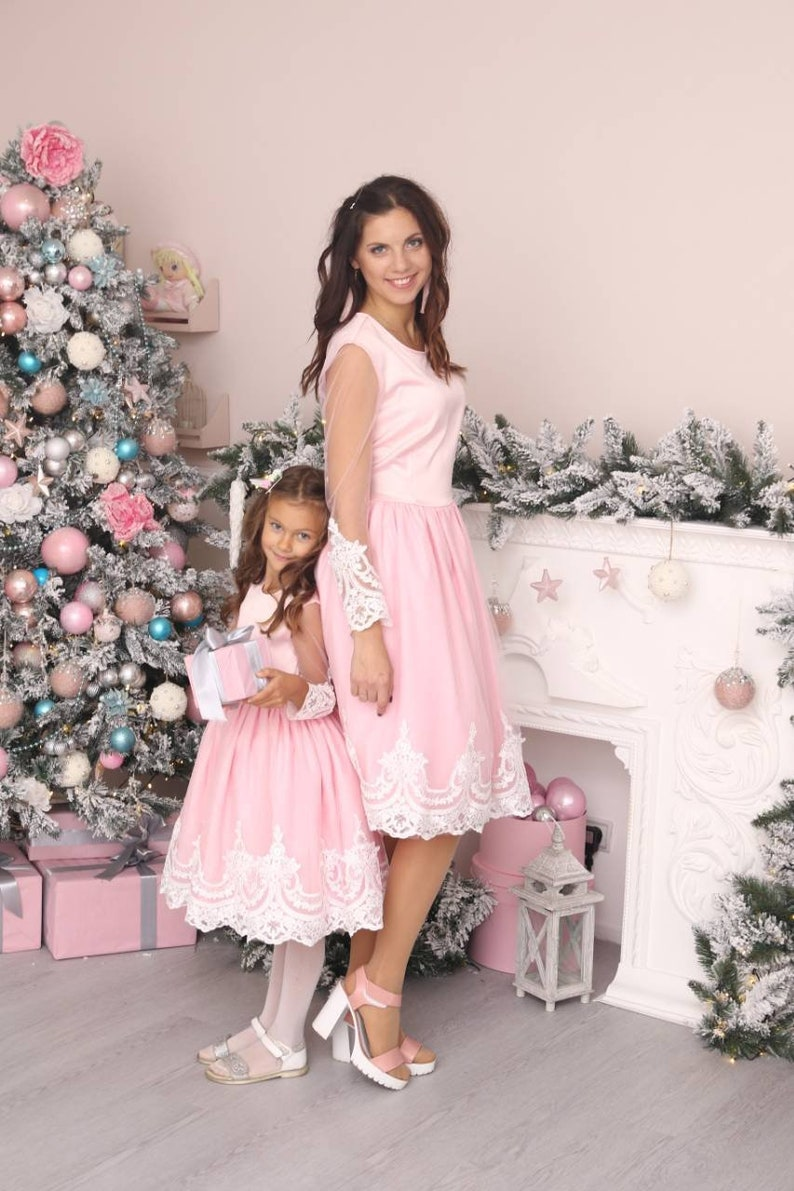 3e0032102b94 Pink Mommy and Me Dress Mother daughter matching dresses   Etsy