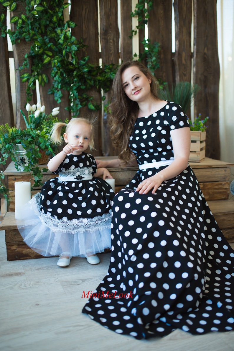 004ce411f0c9 Matching dresses Polka dot dress Mommy and Me Outfits Mother | Etsy