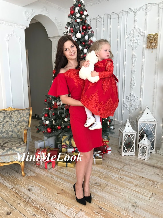 Christmas Outfits.Mommy And Me Dress Mommy And Me Christmas Outfits Red Christmas Dress Mother Daughter Matching Dress Christmas Gift Tutu Dress