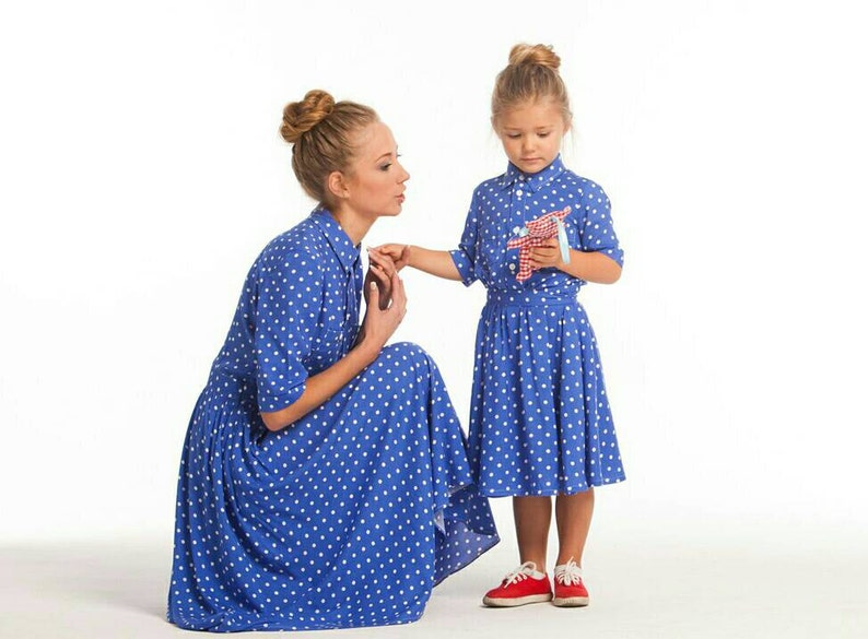 2f2633a9b41 Cotton Matching Mother daughter matching dresses Different