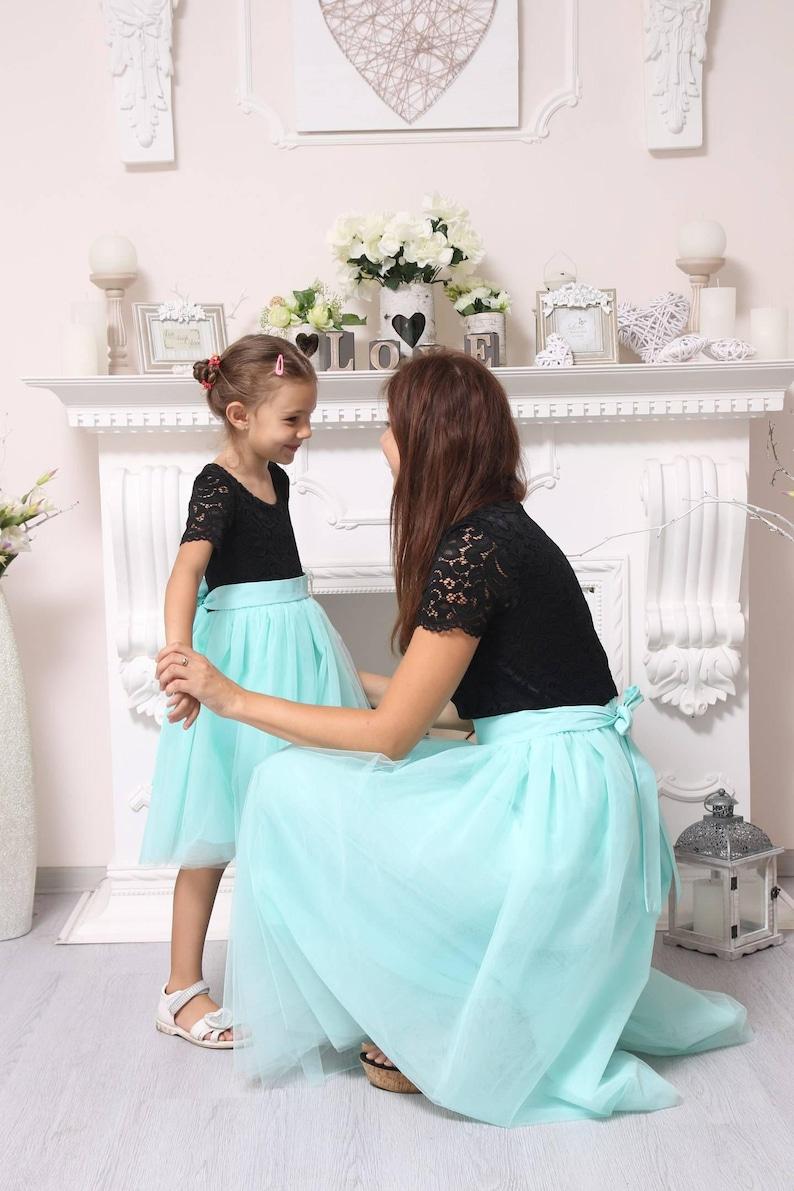 136f913faf44ff Sale/Mint Spitze Mutter Tochter Partnerlook Kleider Mama und   Etsy