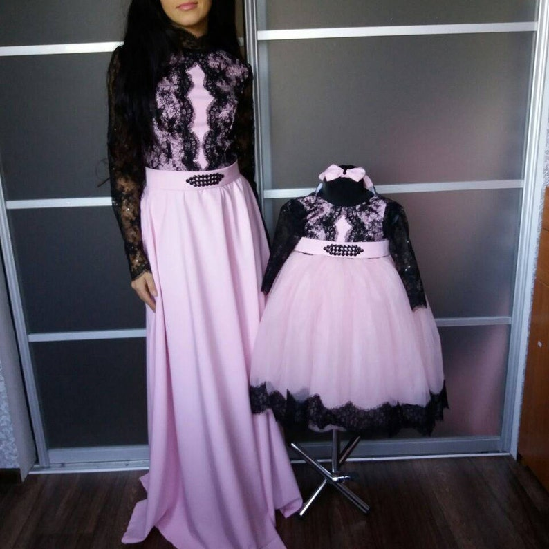 9973fcffe42 Mother Daughter Matching outfits Pink lace dresses Tutu