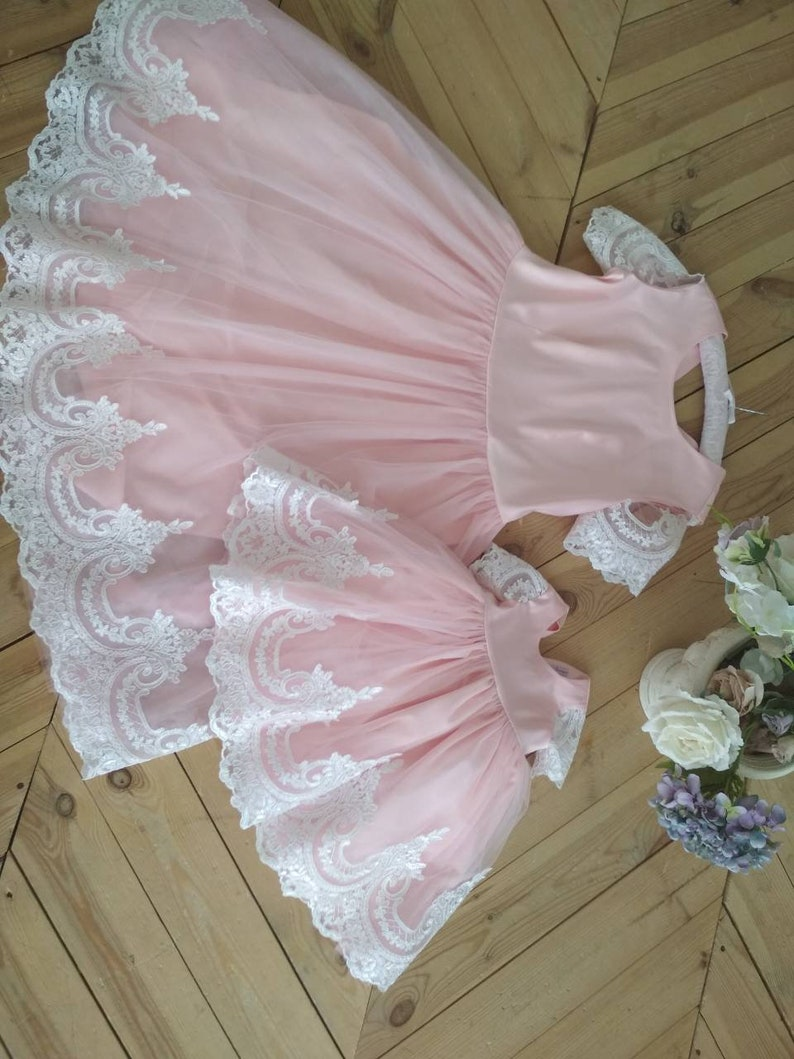 bbfc5c0947d3 Blush Pink Matching mother daughter dress mommy and me   Etsy