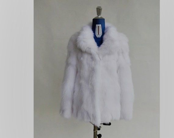 BRAND NEW!!! WhITE fOX fUR JACKET