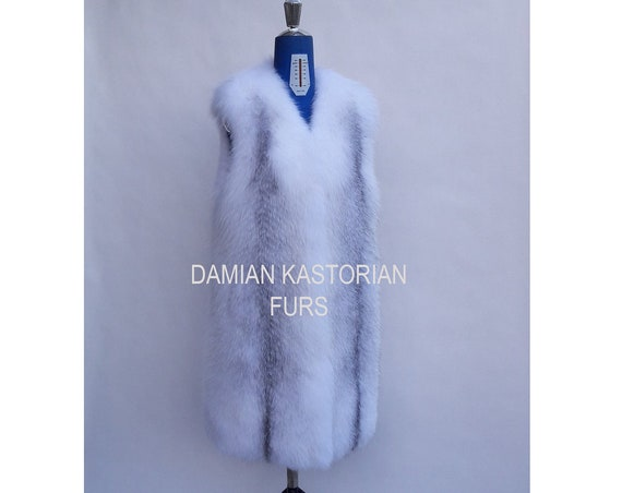 BRAND New! ARCTIC fOX fUR VEST full skin