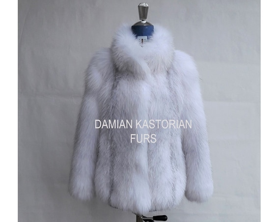 BRAND NeW!!! ARCTIC fOX fUR JACKET full skin
