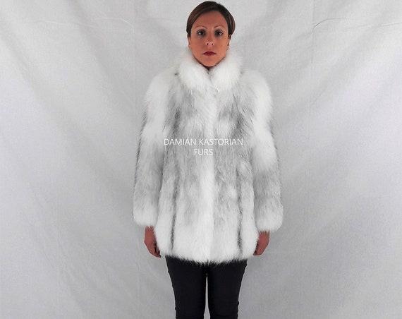 ARCTIC fOX fUR JACKET/full skin/fur jacket/fur coat/women clothing/pelliccia/fur/fox fur/real fur/fur coats women/real fur coat/fox fur coat
