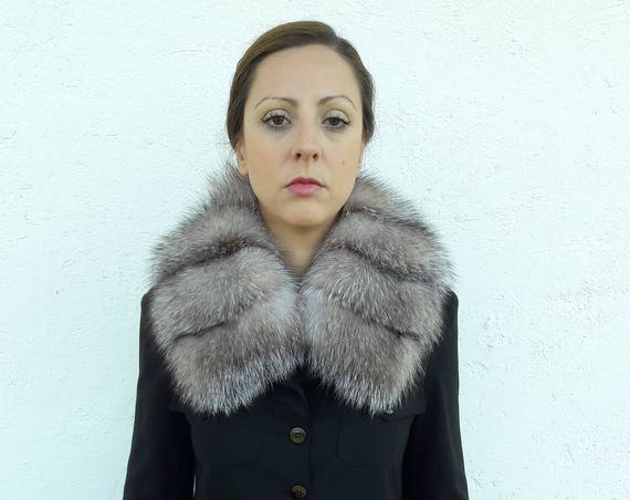 BROWN fOX fUR Collar Scarf FULL SKIN 0double way to wear/fur coat/fox fur coat/fur vest/real fur coat/fox fur/fox fur vest/christmas gift