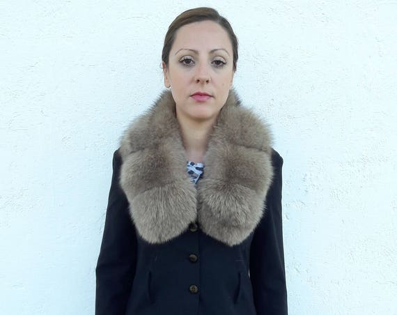BROWN fOX fUR Collar Scarf FULL SKIN double way to wear/fur coat/fox fur coat/fur vest/real fur coat/fox fur/fox fur vest/christmas gift/fur