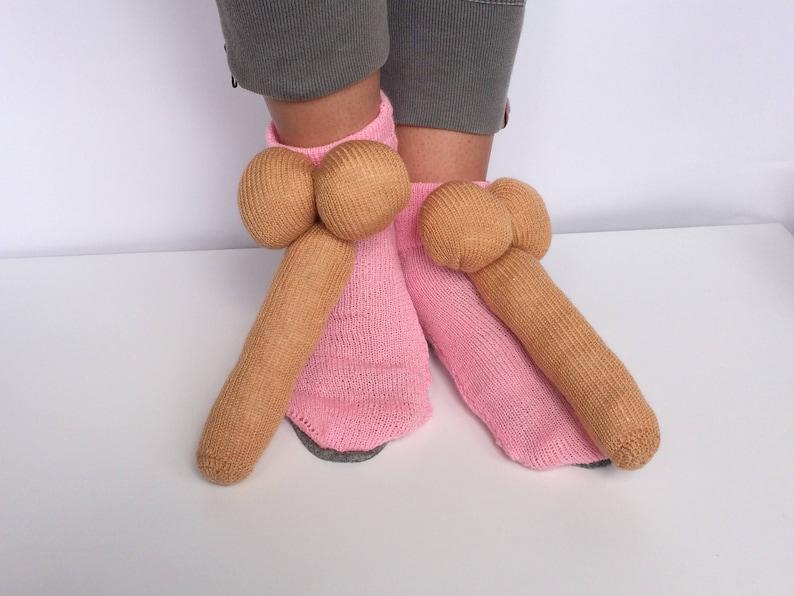 Penis Hausschuhe alternative Hausschuhe Schwanz Socken   Etsy