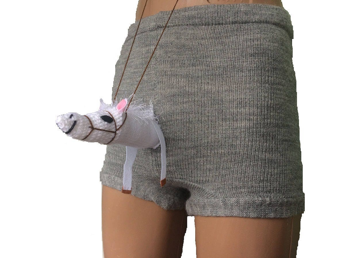 Horse Boxers Funny Underwear Knit Shorts Knit Boxers Sexy -2643