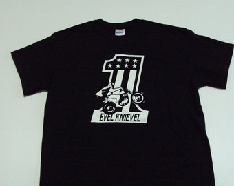 Vintage Replica Evil Knievel Daredevil T-Shirt - Available in Adult or Youth Sizes
