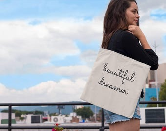 Beautiful Dreamer Tote Bag - Entrepreneur - Goal Digger - CEO - Hustle - Hustler - Boss - Girl Boss -Boss Lady -Boss Babe - Tote Bags