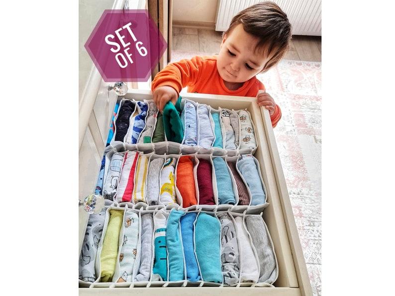 Baby Cloth Organizer Nursery Dresser Drawer Divider Set of image 0