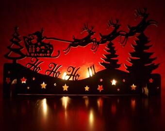 Vintage Christmas decoration, Christmas light decoration, Laser cut wood Christmas Decoration, Laser cut, Christmas town, Christmas Village