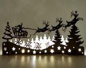 Vintage Christmas decoration, Christmas light decoration, Laser cut wood Christmas Decoration, Christmas town, Christmas Village