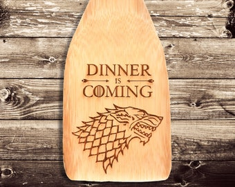 Game of thrones art, Engraved spatula, Wooden spatula, Cooking utensil, Home gift, Spatula, Gift for Game of Thrones fan, Game of thrones