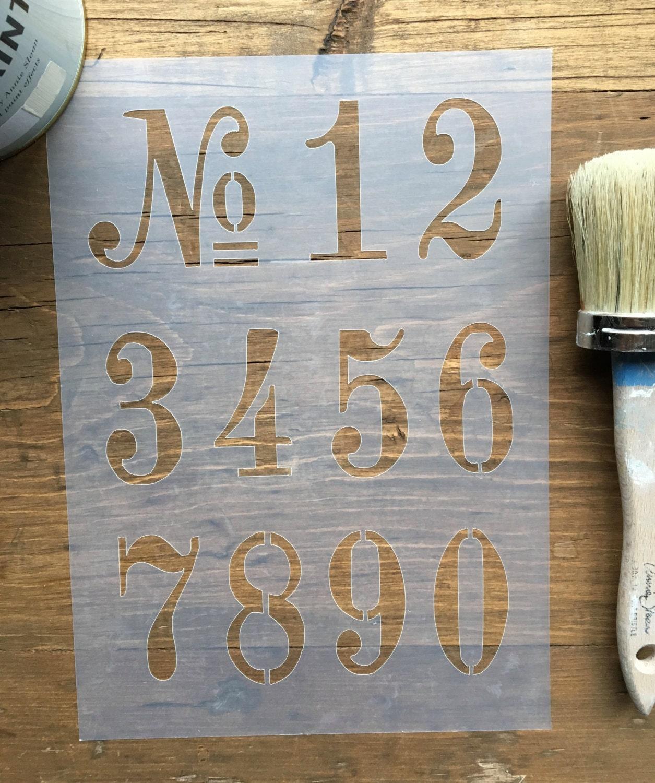vintage alte anzahl schablone für wände möbel oder handwerk | etsy