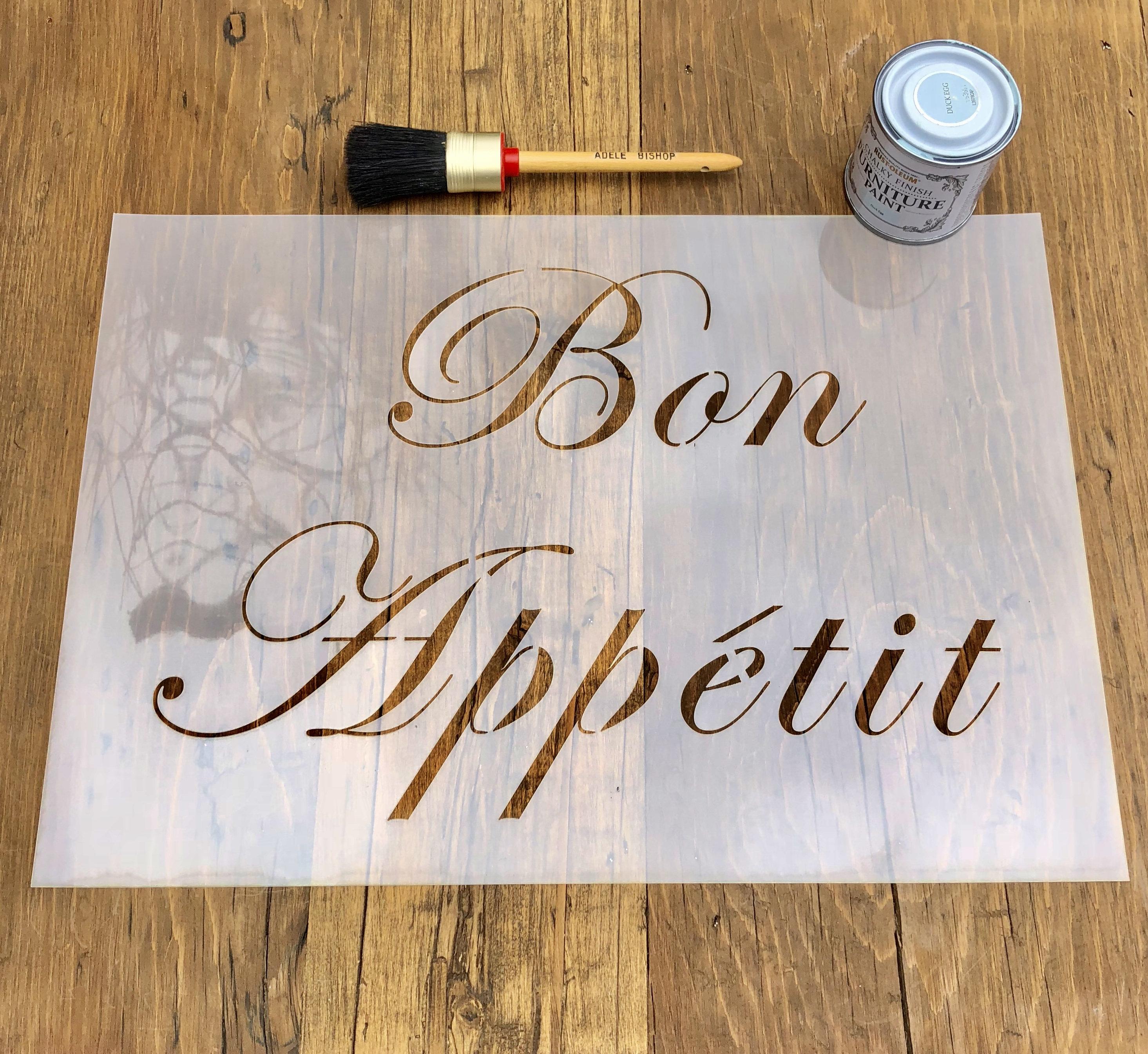 bon appetit französisch schablone für wände möbel oder | etsy