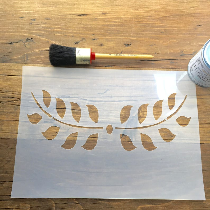Leaf Flower Garland Stencil for walls furniture or craft use A4 125 or 190 thickness film